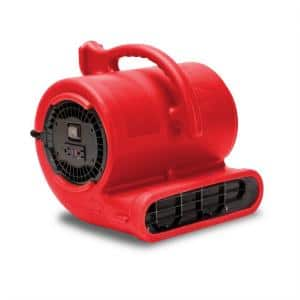 1/3 HP Air Mover for Water Damage Restoration Carpet Dryer Janitorial Floor Blower Fan in Red