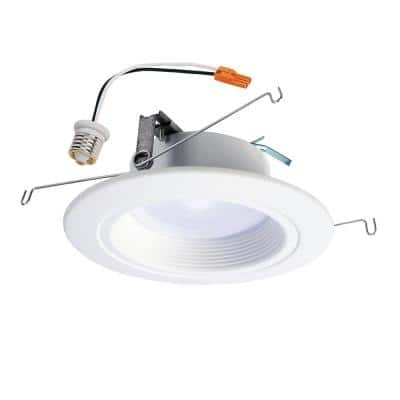 RL 5 in. and 6 in. White Integrated LED Recessed Ceiling Light Fixture Retrofit Downlight at 90 CRI, 4000K Cool White