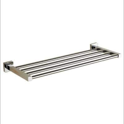 General Hotel Wall Mounted Towel Rack in Chrome