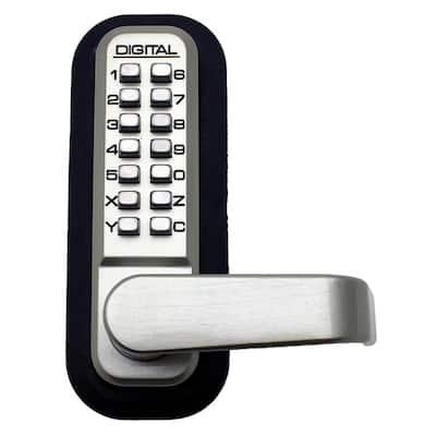 Satin Nickel Keyless Mechanical Passage Door Lever Lock Handle set