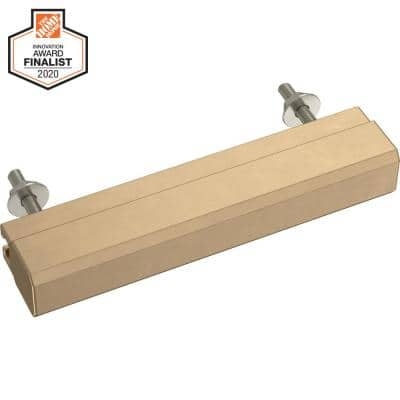 Tapered Edge 1 in. to 4 in. (25 mm to 102 mm) Champagne Bronze Adjustable Drawer Pull
