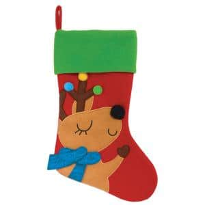 """New 6.5/"""" x 4.25/"""" Mini Christmas Plush Stocking Initial /""""d/"""" Red and Green"""