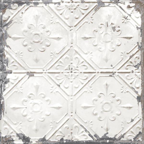 Nuwallpaper Vintage Tin Tile Vinyl Peel Stick Wallpaper Roll Covers 30 75 Sq Ft Nus2213 The Home Depot