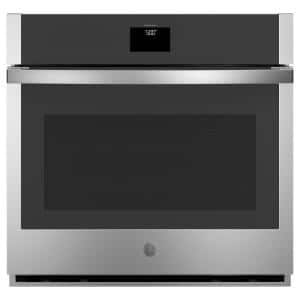 30 in. 5.0 cu. ft. Smart Single Electric Wall Oven with Self-Cleaning Convection in Stainless Steel