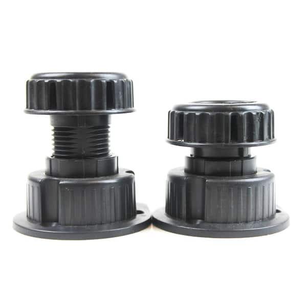 Adjustable Height 50 Mm To 90 Black, Adjustable Feet For Furniture Home Depot