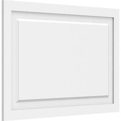 Ekena Millwork 5 8 In X 2 1 2 Ft X 2 Ft Harrison Raised Panel White Pvc Decorative Wall Panel Walp30x24x062har The Home Depot