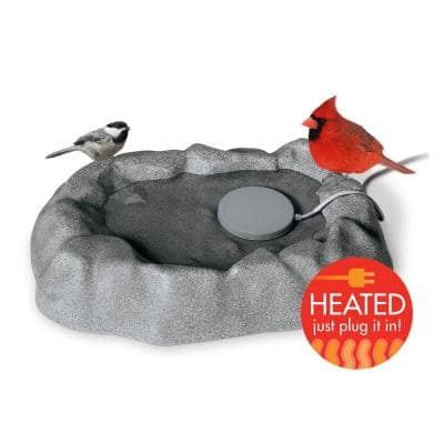 17 in. x 23.5 in. x 4 in. 80-Watt K&H Thermo-Birdbath (Heated) Gray