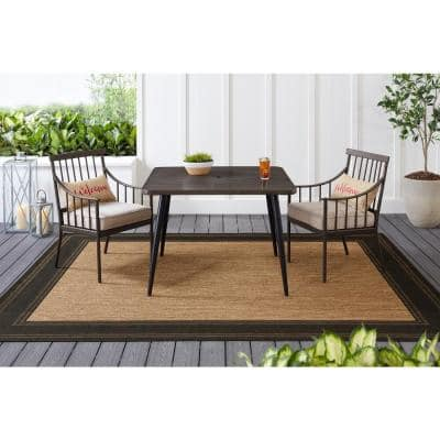 42 in. Faux Wood Outdoor Dining Table