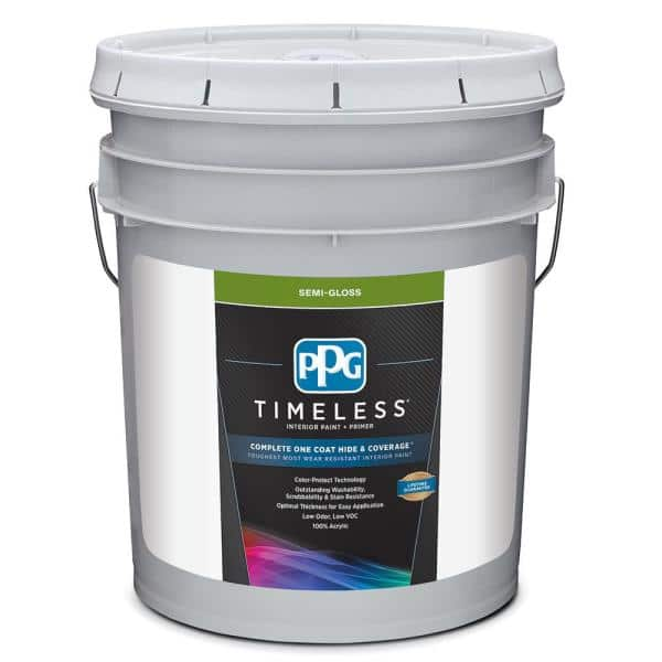 Reviews For Ppg Timeless 5 Gal Hdppgcn61 Universal Grey Semi Gloss Exterior One Coat Paint With Primer Hdppgcn61x 05sg The Home Depot