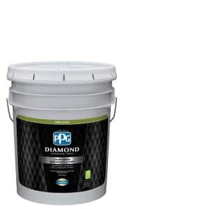 Ppg Diamond 5 Gal Pure White Semi Gloss Interior Paint And Primer Ppg53 510 05 The Home Depot