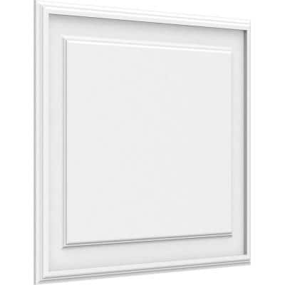 5/8 in. x 2 ft. x 1-3/5 ft. Legacy Raised Panel White PVC Decorative Wall Panel