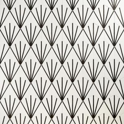 Eclipse Ray White 7.79 in. x 8.98 in. Matte Porcelain Floor and Wall Tile (6.03 sq. ft. / Case)