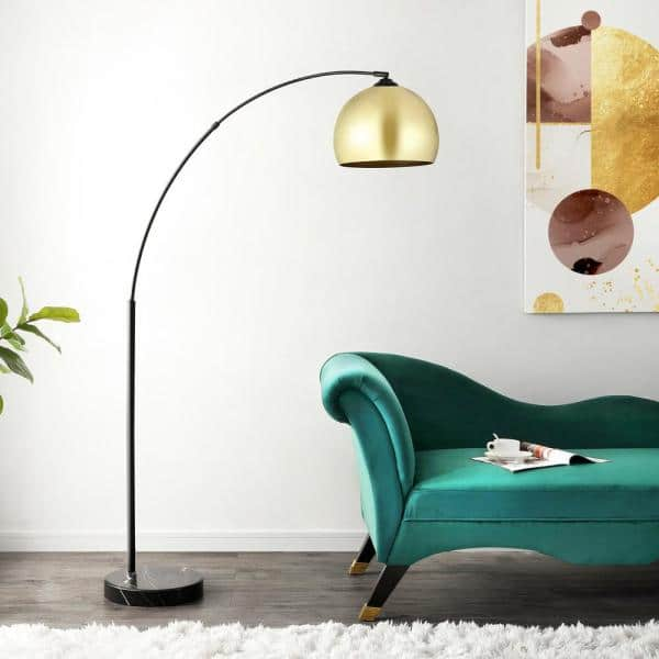 Safavieh Glarien 70 In Gold Black Floor Lamp Fll4087a The Home Depot
