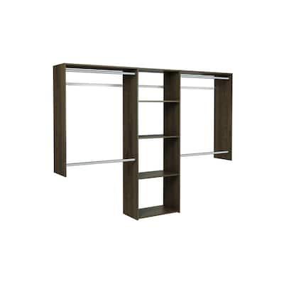 Essential Plus 60 in. W - 96 in. W Espresso Wood Closet System