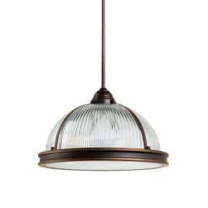 Pratt Street Prismatic 3-Light Autumn Bronze Pendant with LED Bulbs