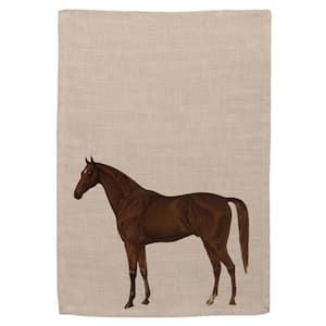 Quater Horse Natural Animal Print Polyester Tea Towel (Set of 2)