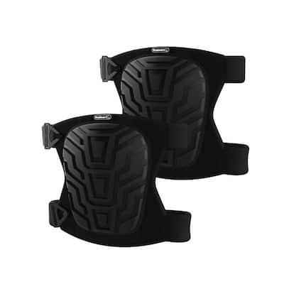 Black EVA Foam Knee Pads with Plastic Shell