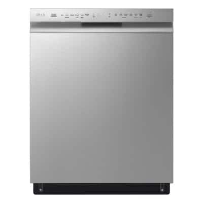 24 in. PrintProof Stainless Steel Front Control Dishwasher with QuadWash, 3rd Rack & Dynamic Dry, 48 dBA