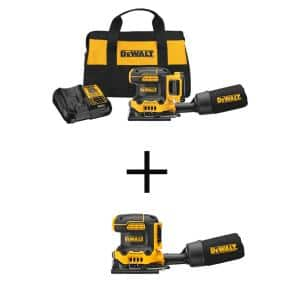 20-Volt MAX Cordless Brushless 1/4-Sheet Variable Speed Sander with 20-Volt 1/4-Sheet Variable Speed Sander(Tool-Only)