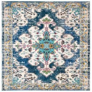 Madison Navy/Grey 7 ft. x 7 ft. Square Area Rug