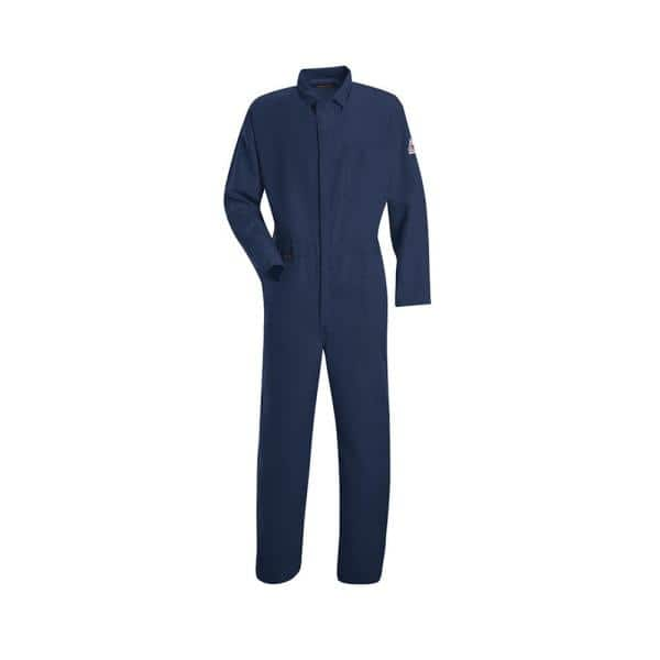 Bulwark Nomex Iiia Men S Size 46 Navy Classic Coverall Cnc2nv Rg 46 The Home Depot