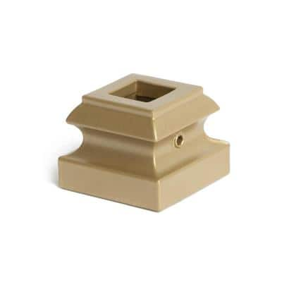 Dorado Gold 16.3.19 Flat Base Shoes for 1/2 in. Square 1.3 in. x 1 in. Iron Balusters for Stair Remodel