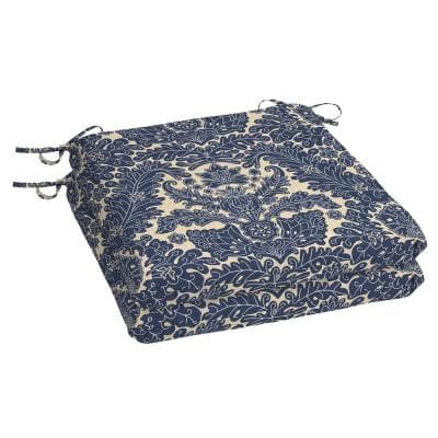 Chelsea Damask Square Outdoor Seat Cushion (2-Pack)