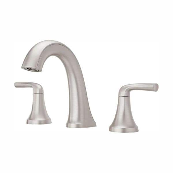 Pfister Ladera 8 In Widespread 2 Handle Bathroom Faucet In Spot Defense Brushed Nickel Lf 049 Lrgs The Home Depot