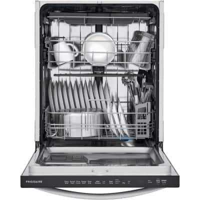 24 in. Stainless Steel Top Control Built-In Tall Tub Dishwasher with Stainless Steel Tub and 3rd Level Rack, 49 dBA