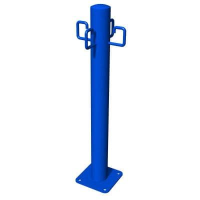 Blue Commercial Leash Post
