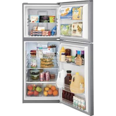 11.6 cu. ft. Top Freezer Refrigerator in Brushed Steel, ENERGY STAR