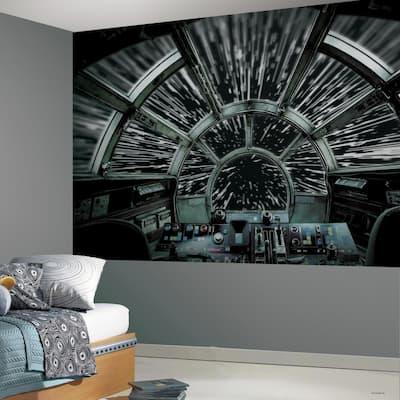 Star Wars Millennium Falcon Black, Grey Vinyl Peelable Roll (Covers 63 sq. ft.)