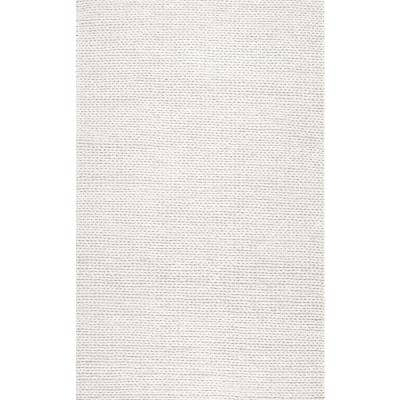 Caryatid Chunky Woolen Cable Off-White 3 ft. x 5 ft. Area Rug