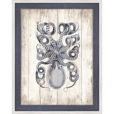 Octopus on the Boards II Framed Giclee Coastal Art Print 20 in. x 26 in.