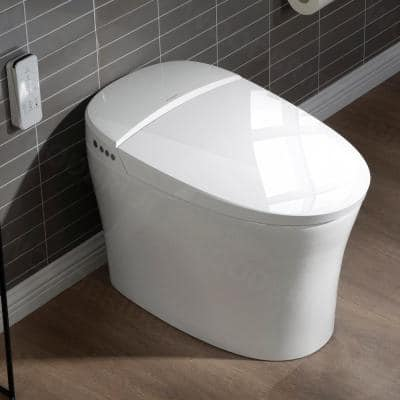 Victoria Intelligent Comfort Height 1-Piece 1.0 GPF /1.6 GPF Dual Flush Elongated Toilet in White, Seat Included