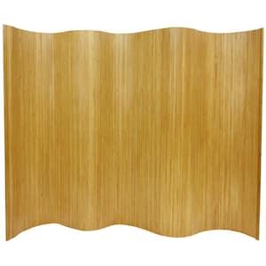 6 ft. Natural Bamboo Wave 1-Panel Room Divider