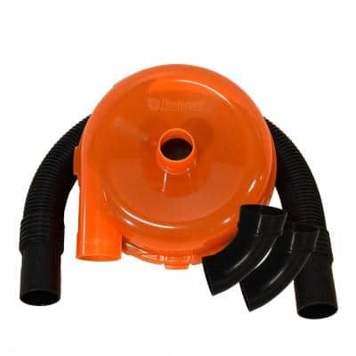 High Efficiency Cyclonic Dust Separator, 12 in. Dia with 2.5 in. hose, 36 in. long, with 2 Sweep Elbows