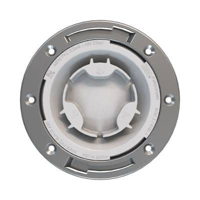Fast Set 4 in. PVC Hub Spigot Toilet Flange with Test Cap and Stainless Steel Ring