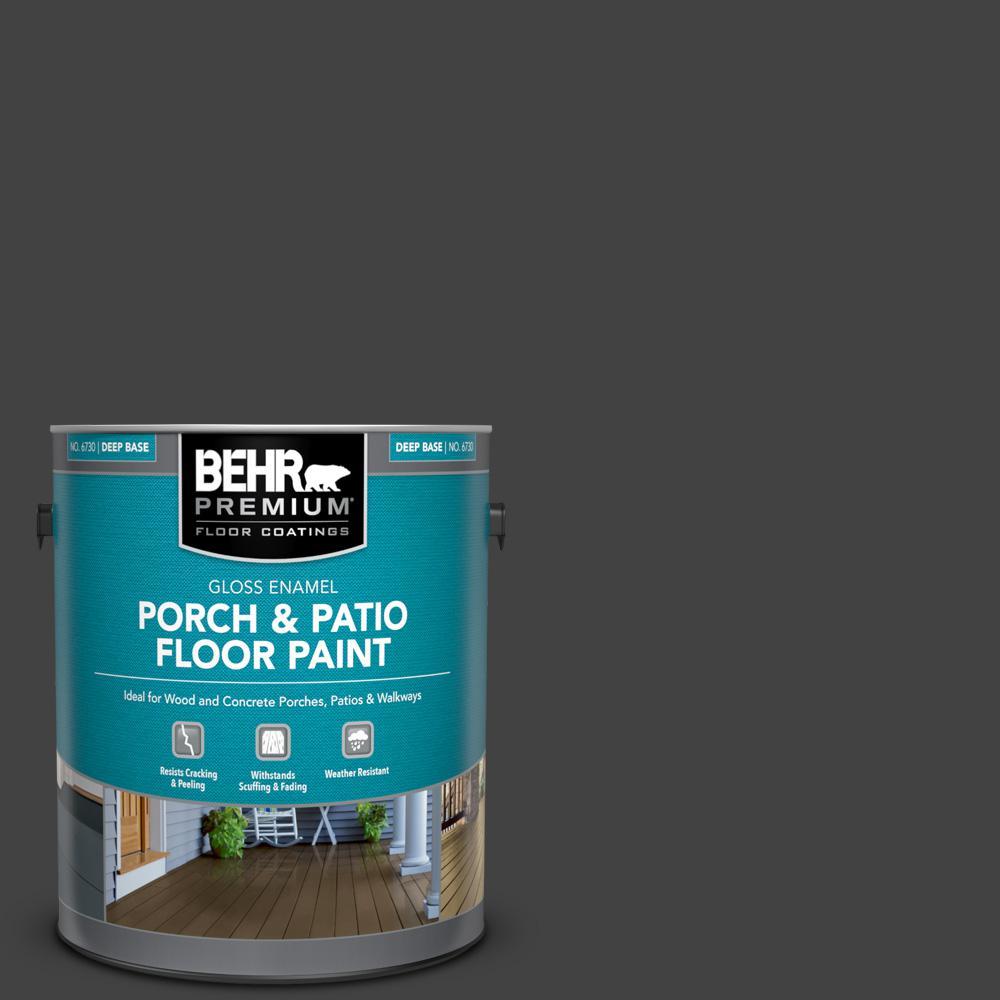 1 gal. #PFC-75 Tar Black Gloss Enamel Interior/Exterior Porch and Patio Floor Paint