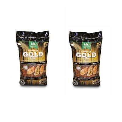 Premium Gold Blend Hardwood Grilling Cooking Pellets (2-Pack)