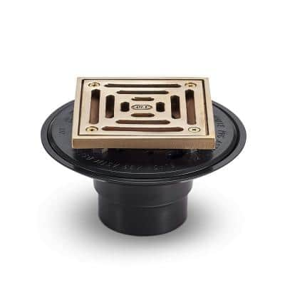2 in. Shower Drain Polished Bronze