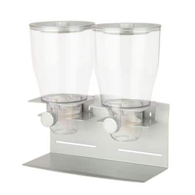 Commercial Plus Double Canister Dispenser in Silver
