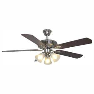 Glendale 52 in. LED Indoor Brushed Nickel Ceiling Fan with Light Kit