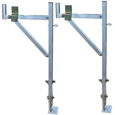 250 lb. Capacity Side Mount Aluminum Utility Truck Rack for Ladders and Equipment