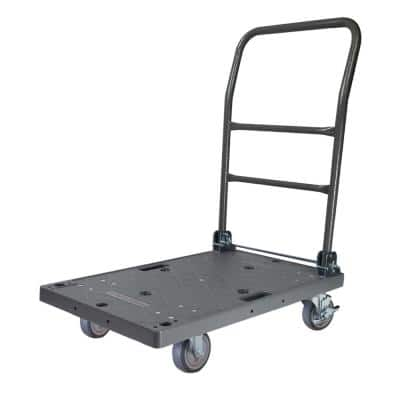 500 lbs. Capacity DIY Easy-Move Foldable Push Cart Platform Truck with 4 in. Thermoplastic Swivel Non-Marking Caster
