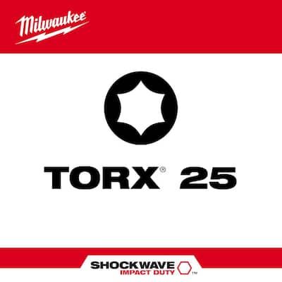SHOCKWAVE Impact Duty 3-1/2 in. T25 Torx Alloy Steel Screw Driver Bit (2-Pack)