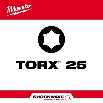 SHOCKWAVE Impact Duty 2 in. T25 Torx Alloy Steel Screw Driver Bit (2-Pack)