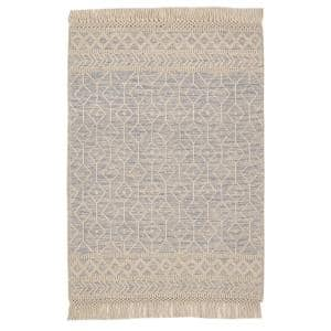 Winchester Beige/Blue 6 ft. x 9 ft. Wool Area Rug