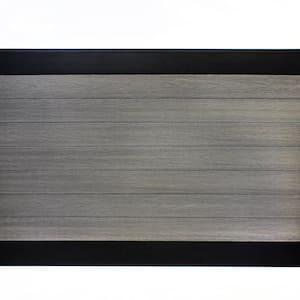 Euro Style 4 ft. x 6 ft. Black Top Oxford Grey Aluminum/Composite Horizontal Fence Panel