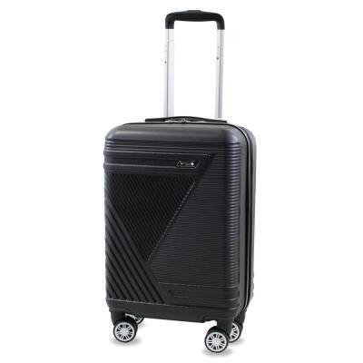 Abstract 20 in. Black Carry-On Expandable Spinner Suitcase